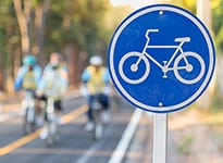 1604 Bicycle lanes with bike sign for Ogilvie website home page small header_205x150
