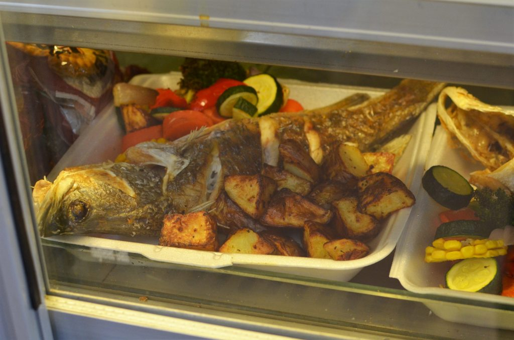 Image of Barramundi and vegetable take-away lunch only $12, Pipalyatjara
